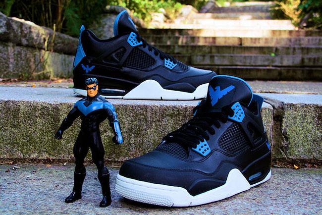 Air Jordan 4 Nightwing Custom