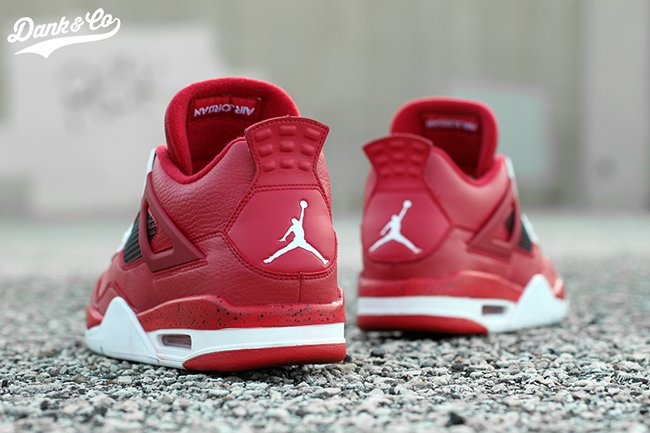 Air Jordan 4 Red Cleats Sole Swap Custom