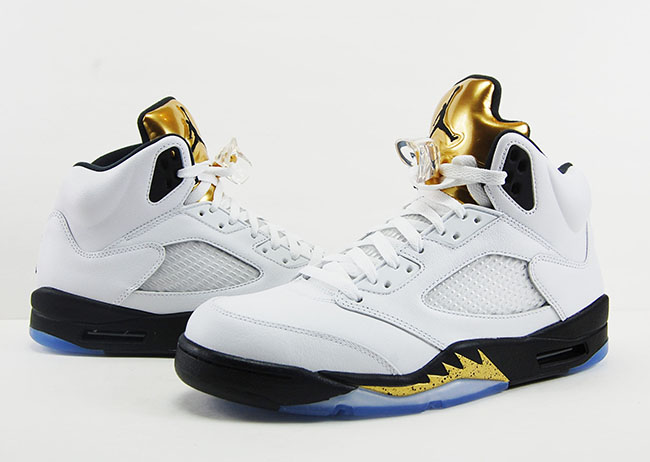 Air Jordan 5 Gold Tongue Olympic Medal Review On Feet