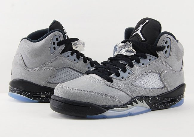 huge selection of 069d1 b776b Air Jordan 5 GS Wolf Grey Black | SneakerFiles