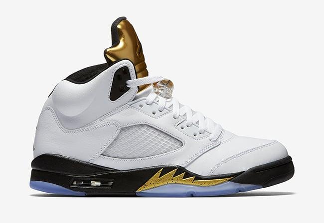 Air Jordan 5 Olympic Gold Tongue