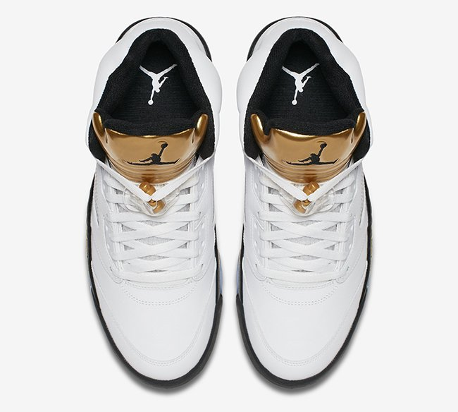 Air Jordan 5 Olympic Gold Tongue