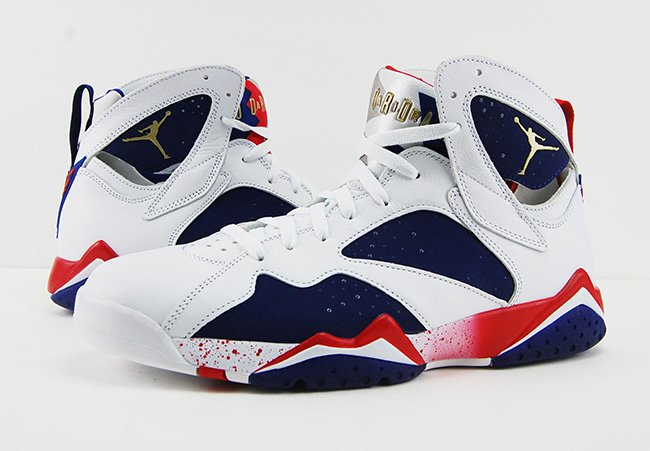 84aca98cad7706 Air Jordan 7 Olympic Alternate Tinker 2016 Review On Feet