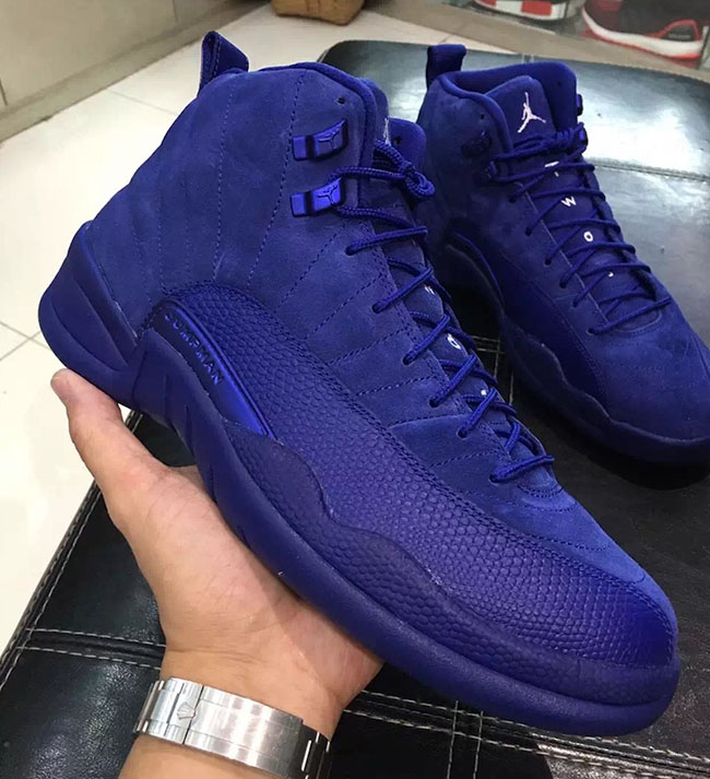 Blue Suede Air Jordan 12 Retro