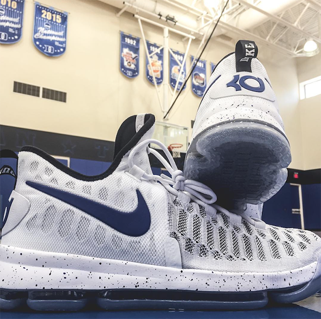 Duke Nike KD 9 White Blue