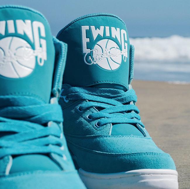 Ewing 33 Hi Turquoise Suede