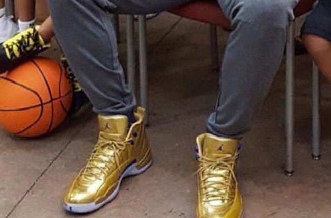 reputable site 417a5 9f9c3 Gold Air Jordan 12 Kawhi Leonard | SneakerFiles
