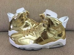 Gold Metallic Air Jordan 6