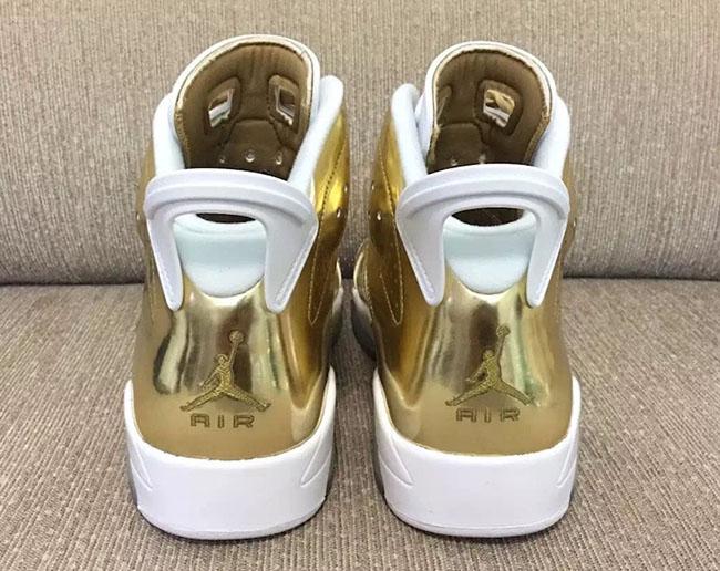 Gold Metallic Air Jordan 6