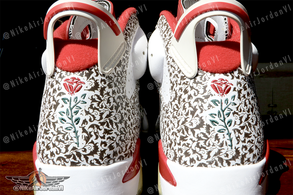 Kanye West Air Jordan 6 Donda West Roses Sample
