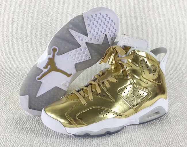 Metallic Gold Jordan 6 Retro Pinnacle