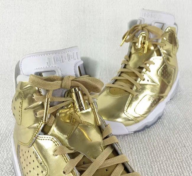 8222b659567 Air Jordan 6 Pinnacle Metallic Gold | SneakerFiles