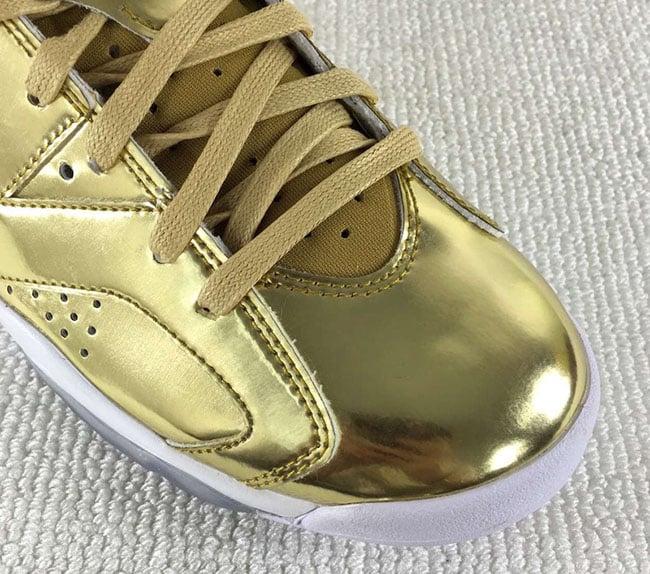 new product e35a8 8108d Metallic Gold Jordan 6 Retro Pinnacle