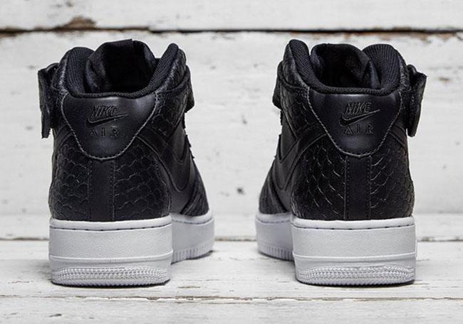 Nike Air Force 1 Mid Black Python