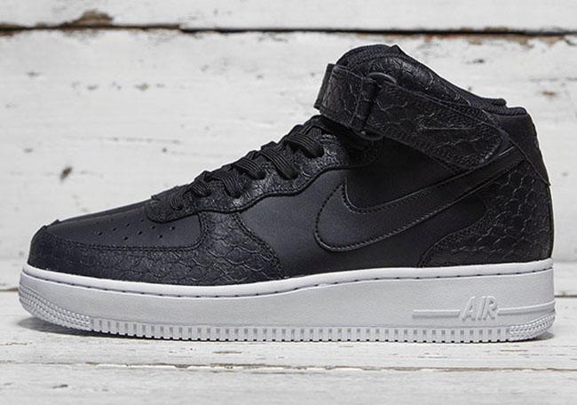 sale retailer 1b0e0 29e1f Nike Air Force 1 Mid Black Python