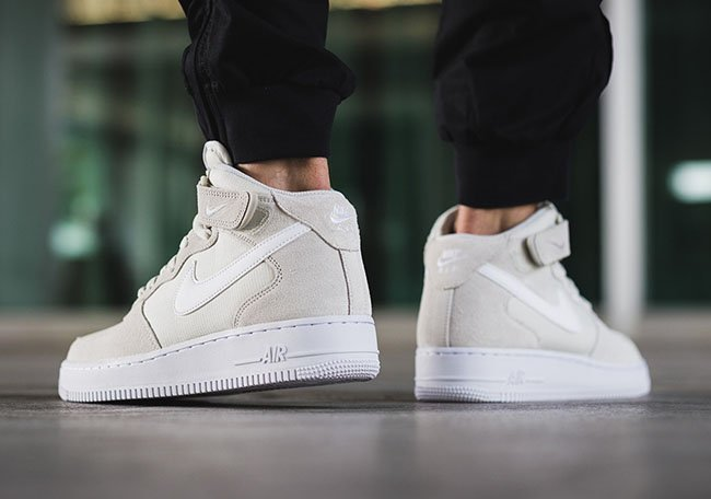 nike air force 1 mid light bone sneakerfiles. Black Bedroom Furniture Sets. Home Design Ideas