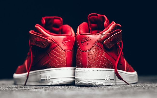 Nike Air Force 1 Mid Red Python