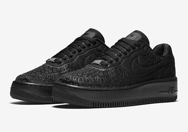 Nike Air Force 1 Upstep Triple Black