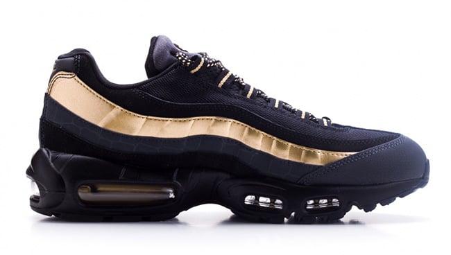 best sneakers 2f23d bbd82 Nike Air Max 95 Premium Black Gold | SneakerFiles