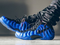 Nike Foamposite Pro Hyper Cobalt Black On Feet