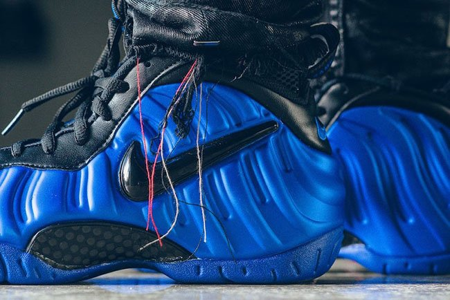 Nike Foamposite Pro Hyper Cobalt Black On Feet