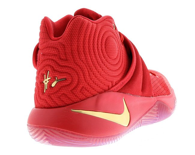 Nike Kyrie 2 Gold Medal Red Gold