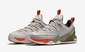 Nike LeBron 13 Low Premium Orange Olive