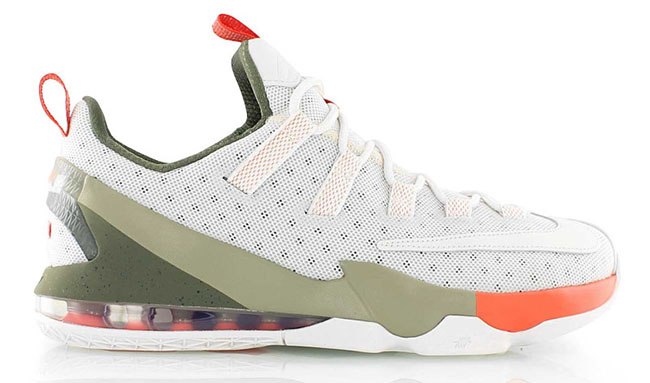 Nike LeBron 13 Low White Olive Orange