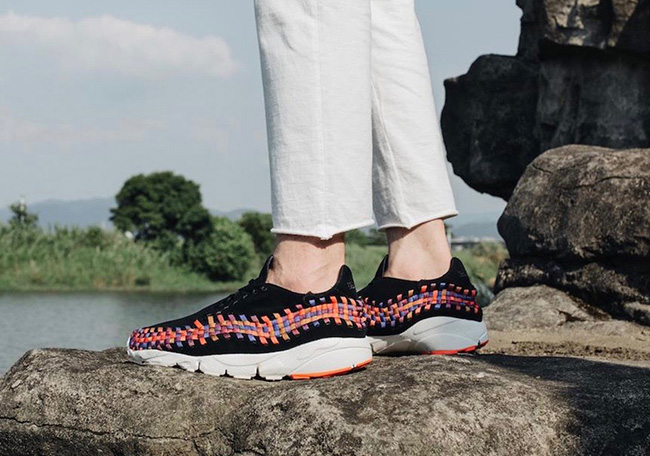 NikeLab Air Footscape Woven Rainbow On Feet
