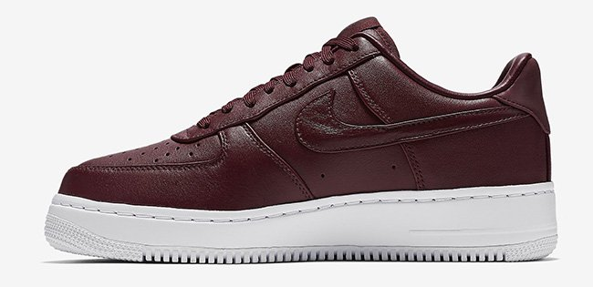 NIKELAB AIR FORCE 1 LOW NIGHT MAROON Nike laboratory Air Force One low knight Marron 555,106 661