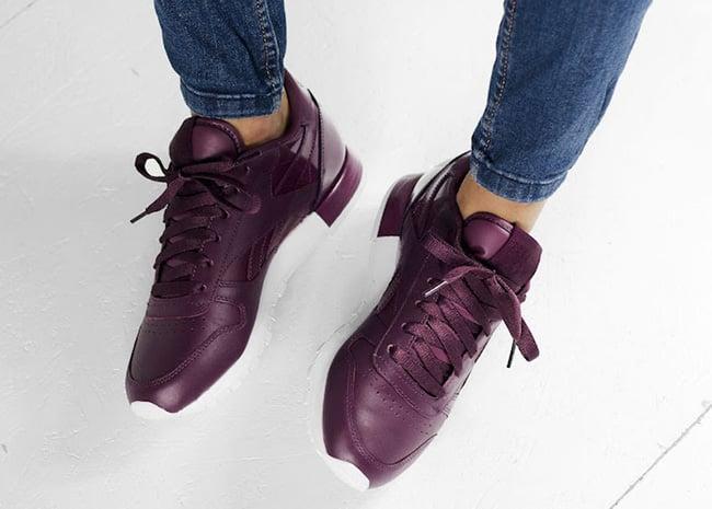 Reebok Classic Leather Matte Shine Maroon