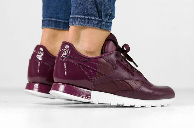 Reebok Classic Leather Matte Shine Maroon | SneakerFiles
