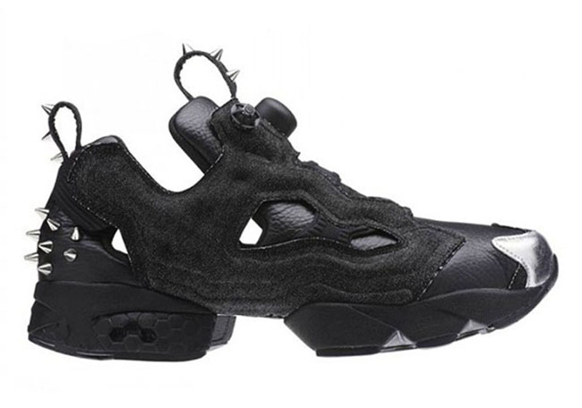 Reebok Insta Pump Fury Studded Spikes Black Leather