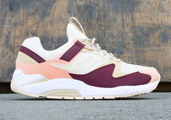 Saucony Grid 9000 Cream Maroon Pink Fall 2016