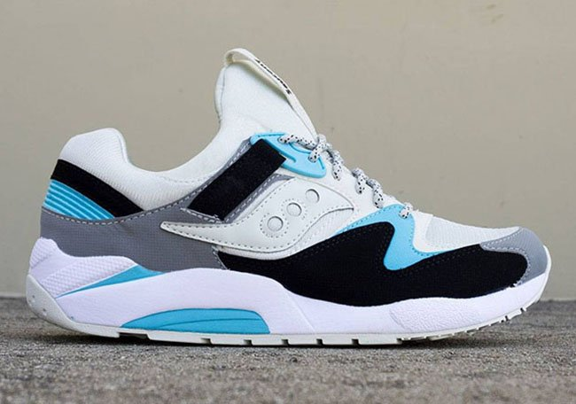 Saucony Grid 9000 Light Grey Black Blue Fall 2016