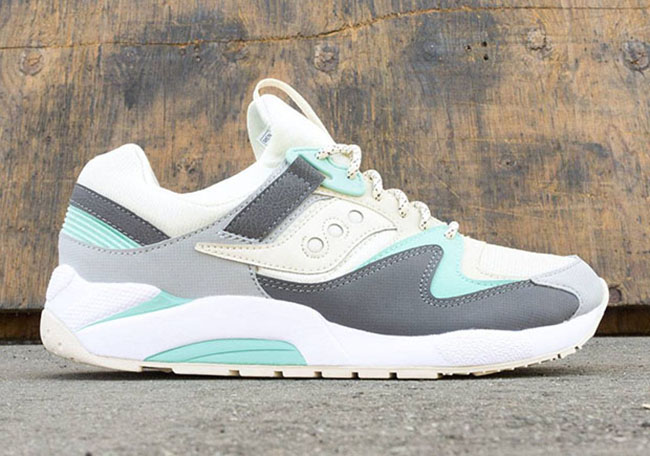 Saucony Grid 9000 Light Tan Charcoal Mint Fall 2016