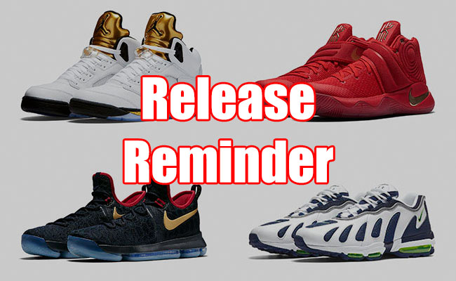 Sneakers Release August 18 22 2016