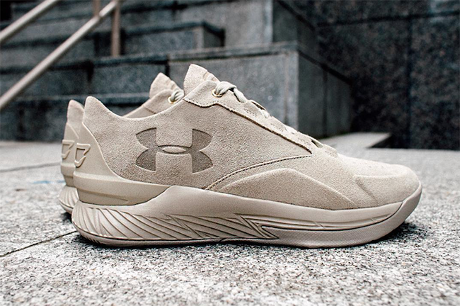 Under Armour Curry Lux Low Tan Suede