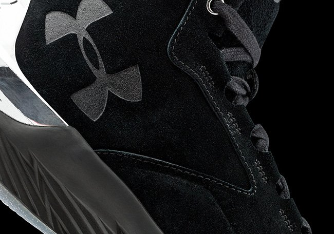 Under Armour Curry Lux Suede Black Silver