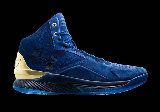 Under Armour Curry Lux Suede Blue Gold