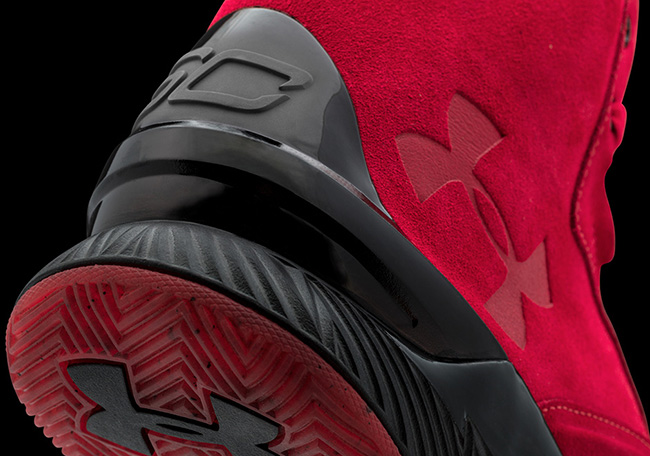 Under Armour Curry Lux Suede Red Black