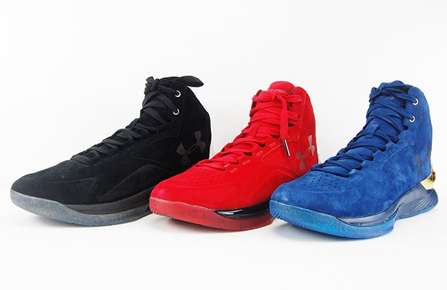 Under Armour Curry Lux Suede Red Blue Black Review