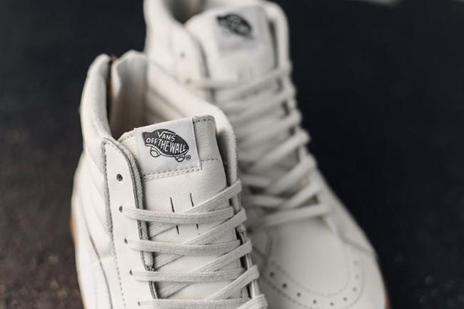 Furgonetas Sk8-hi Postal De Cuero Blanco Y Goma De Los Zapatos Del Patín ViIA4c