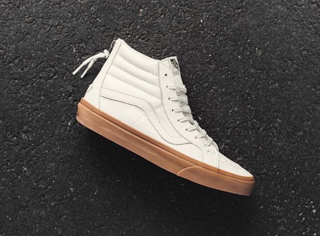 e952c2d411 Vans Hiking SK8-Hi Reissue Zip White Gum