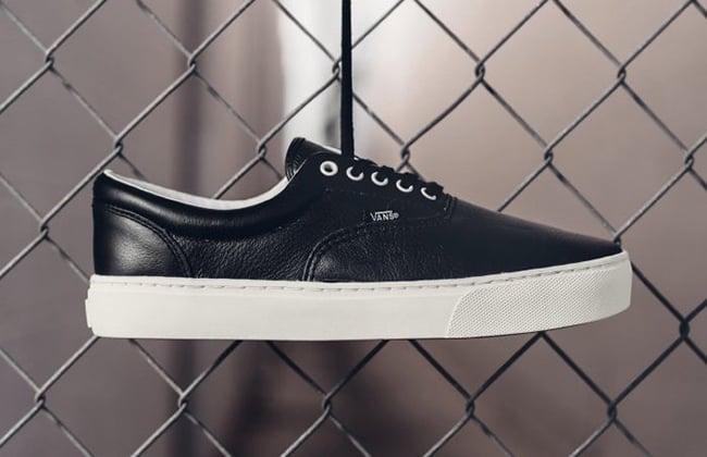 771ca517e8 Vans Leather Era Cup Black | SneakerFiles