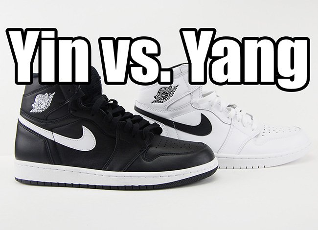 sneakers for cheap 26c31 f7847 Video  Comparing the Air Jordan 1 Retro High OG  Yin Yang  Pack