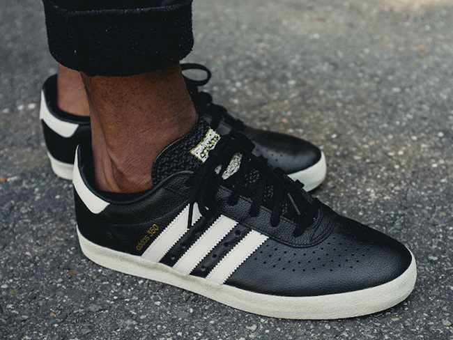 adidas 350 Core Black White