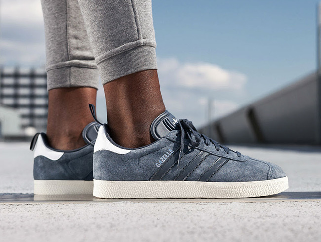 look for 2018 shoes 100% top quality adidas Gazelle Blue Silver Metallic | SneakerFiles