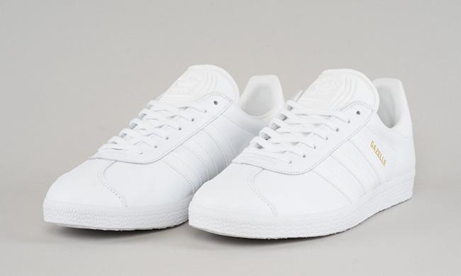 the best attitude 291f0 27ac4 Adidas Gazelle White On Feet