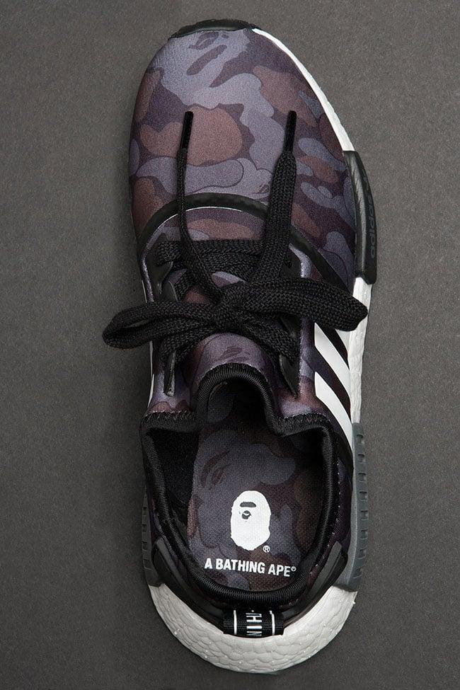 adidas NMD Bape Black Grey Camo